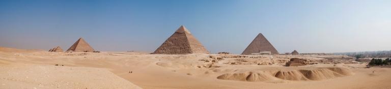Panorama of the Pyramids of Giza Photo by Matt Wan