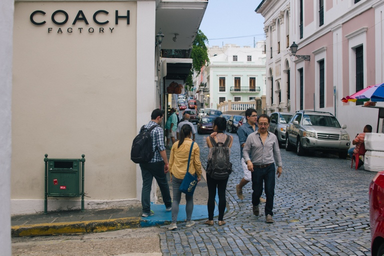 Exploring the streets of Viejo San Juan