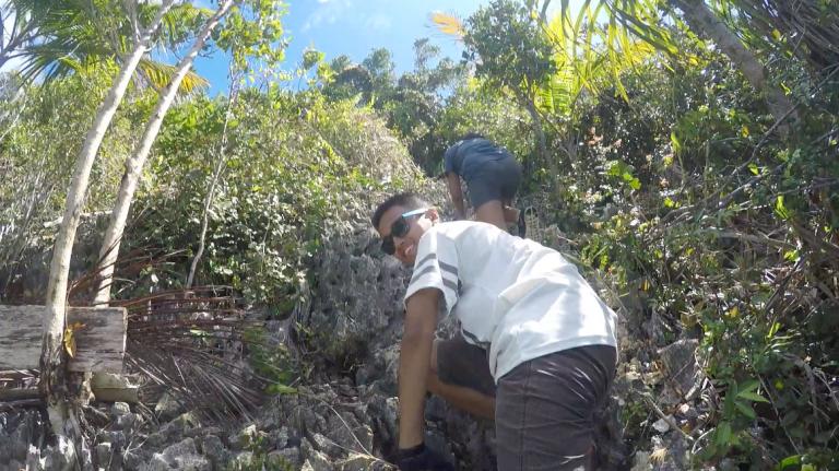 It was a pretty steep hike!